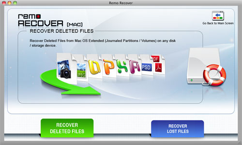 Mac OS X File Recovery-Recover Deleted Files